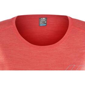 Icebreaker Sphere Fracture SS Low Crewe Shirt Women poppy red